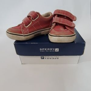 Red Sperrys (toddler)